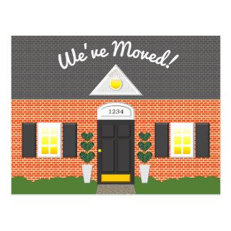 Ny adress vykort för tegelstenhusFacade