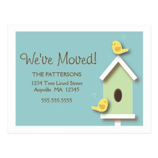 Ny adress vykort för vi har flyttatBirdhouse
