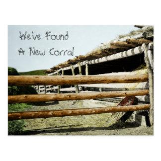 Ny adress western stil vykort