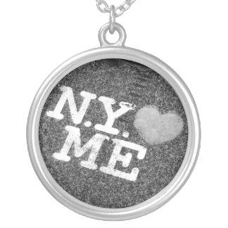 NY älskar mig halsbandet Halsband Med Rund Hängsmycke