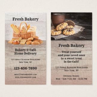 Ny bageri och Café visitkort