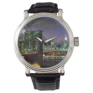 NY Brooklyn överbryggar klockan Armbandsur