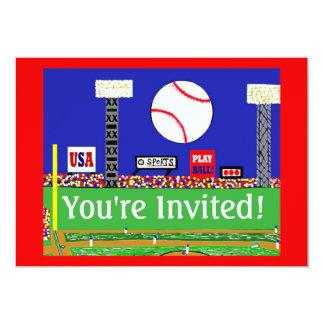 Ny födelsedagsfest inbjudan för ungesportbaseball