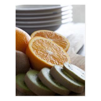 Ny frukt för frukostvykort vykort
