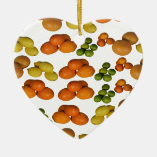ny frukt julgransprydnad keramik