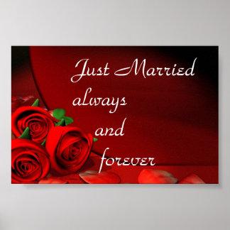 Ny gifta alltid och för evigt poster