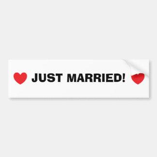 """""""Ny gifta"""" bildekal"""
