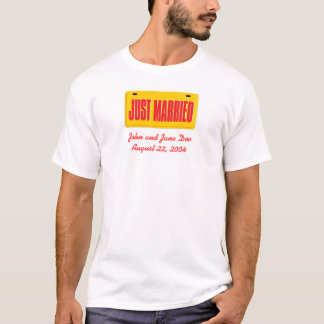 Ny gifta - gult tee shirt