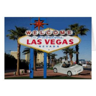 NY GIFTA kopplar ihop det ordstävgoodbye Las Vegas Hälsningskort