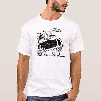 Ny gifta kopplar ihop i bil t-shirts