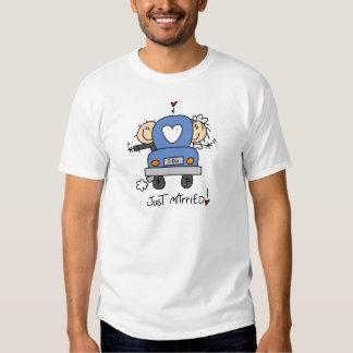 Ny giftabrud och brudgumT-tröja och gåvor T-shirts