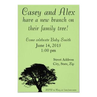 Ny gren på stamträdbaby showerinbjudan 8,9 x 12,7 cm inbjudningskort