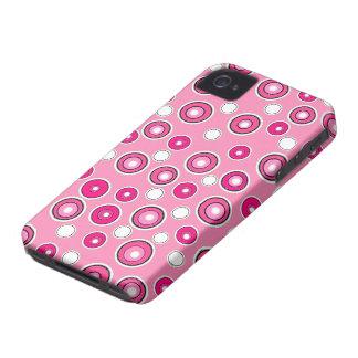 Ny gullig blackberry fodralrosor & vitgåva för Case-Mate iPhone 4 skydd