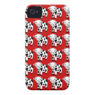 Ny gullig röd koblackberry fodralgåva iPhone 4 Case-Mate skal
