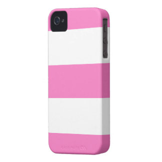 Ny gullig rosa- & vitblackberry fodralgåva iPhone 4 Case-Mate fodral