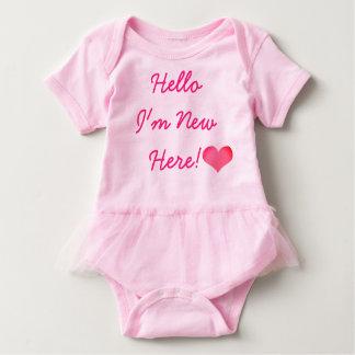 Ny här Bodysuit-TUTU för nyfödd bebis Tshirts