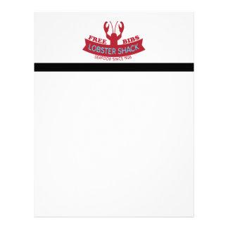 Ny havs- logotyp för hummerhydda brevhuvud