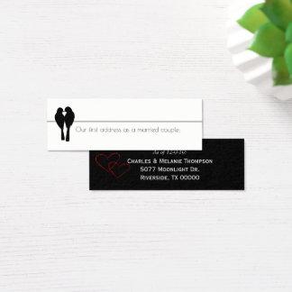 Ny hemadress för Lovebirds Litet Visitkort