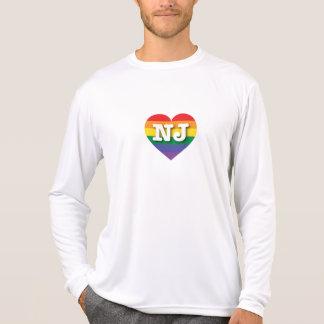 Ny - hjärta för jerseygay prideregnbåge - stor t-shirts
