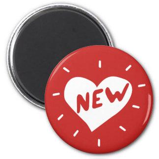 Ny hjärta/standart, rundamagnet för 5,7 cm magnet