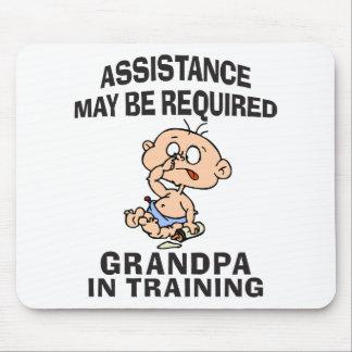 Ny morfar i utbildning musmatta