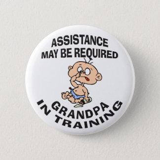 Ny morfar i utbildningsgåva standard knapp rund 5.7 cm
