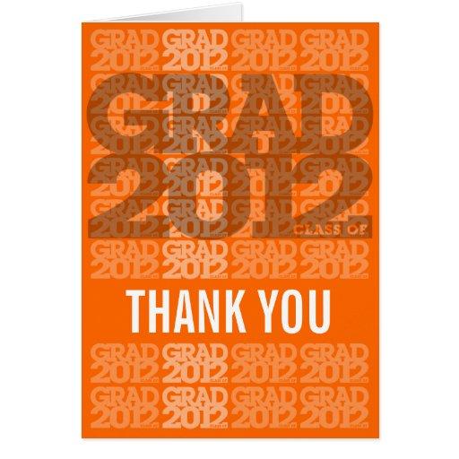 Ny orange 2012 för studententackkort hälsningskort