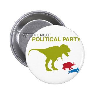 Ny politiskt parti knappar med nål