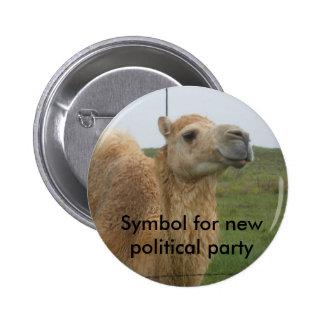 Ny politiskt parti standard knapp rund 5.7 cm