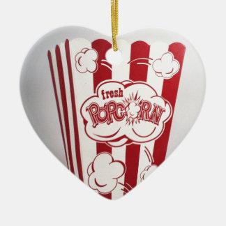 Ny Popcorn hänger lös röd vintage Julgransprydnad Keramik