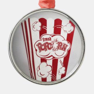 Ny Popcorn hänger lös röd vintage Julgransprydnad Metall