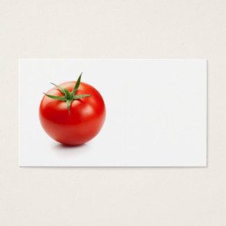 Ny röd tomat som isoleras på vitbakgrund visitkort