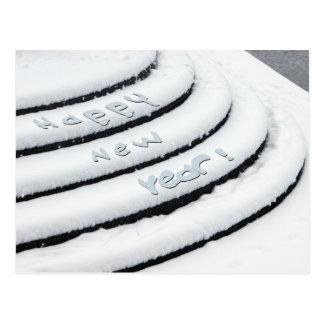 Ny snögott nytt år vykort