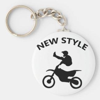 Ny stil för cykel rund nyckelring