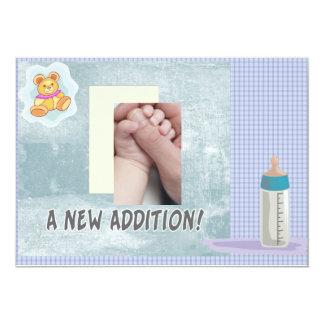 Ny tilläggsbaby 12,7 x 17,8 cm inbjudningskort