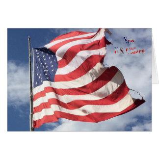 Ny U.S.-medborgare: Flyga för flagga Hälsningskort