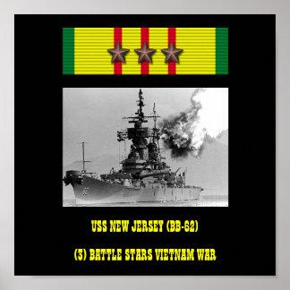 NY USS - Jersey (BB-62) AFFISCH