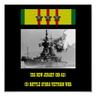 NY USS - Jersey BB-62 AFFISCH