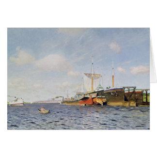 Ny vind på Volgaen, 1895 Hälsningskort