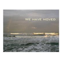 Nya adress vykort för havvågar