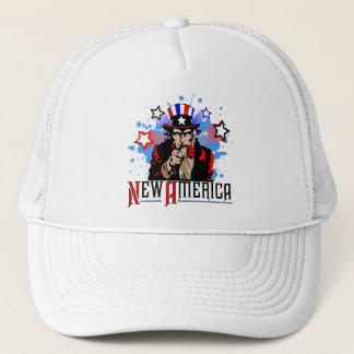 Nya Amerika 4th Juli Truckerkeps