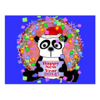 Nya år för Pandabjörn Vykort