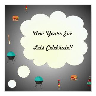 Nya år inbjudan för Eve> grillfestparty