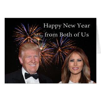 Nya år kort från Donald och Melania trumf