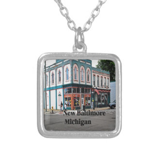 Nya Baltimore Michigan Silverpläterat Halsband