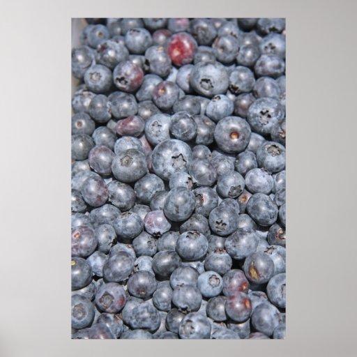 Nya blåbär på vertikalt tryck för kanfas affischer