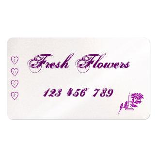 Nya blommavisitkortar