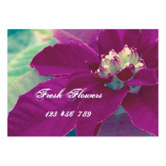 Nya blommavisitkortar set av breda visitkort