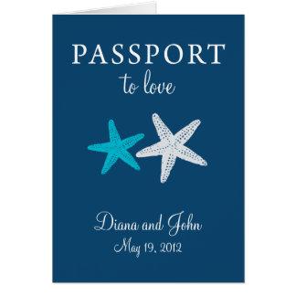 Nya Cape May - inbjudan för jerseypassbröllop OBS Kort