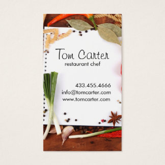 Nya grönsaker som sköter om, eller kockkök visitkort